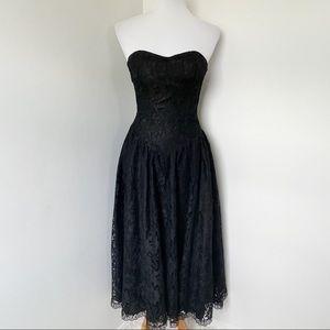 POSITIVELY ELLYN Vintage Black Lace Maxi Dress